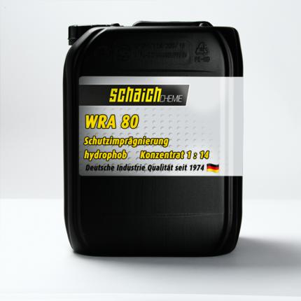 Schaich Chemie Schutzimprägnierung WRA 80 Konzentrat 1:14 1 wra80 schutz impraegnierung loesemittelfrei wasserbasis wasserabweisend abperl effekt konzentrat schaich chemie