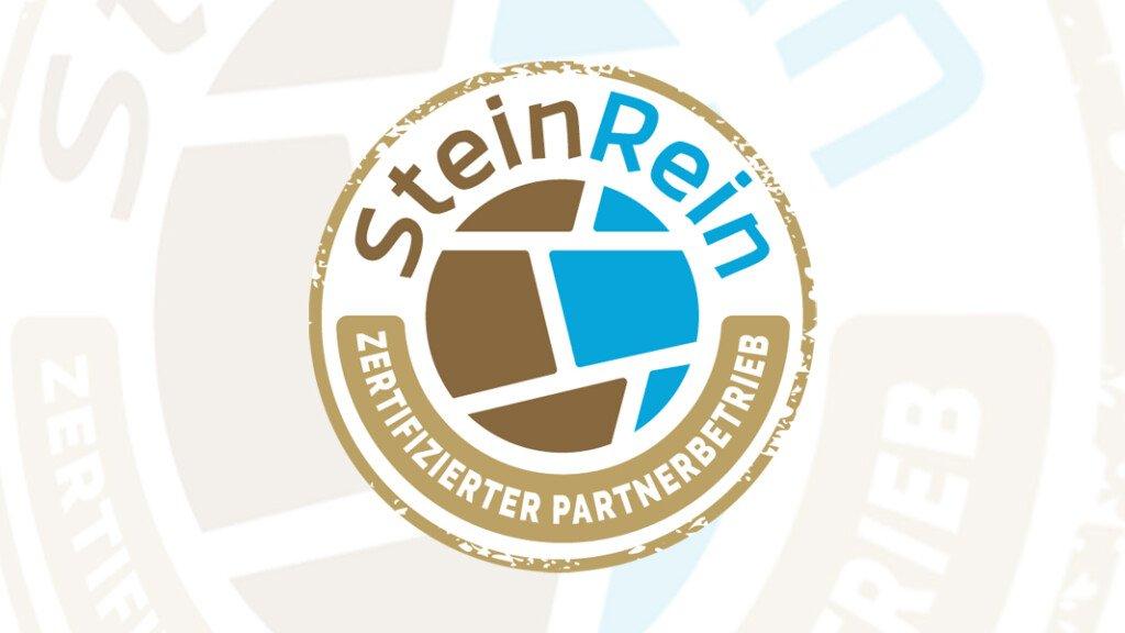 SteinRein-Zertifikat für zertifizierte Partnerbetriebe