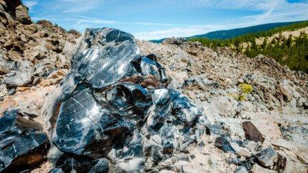 Obsidian Vorkommen in der Landschaft