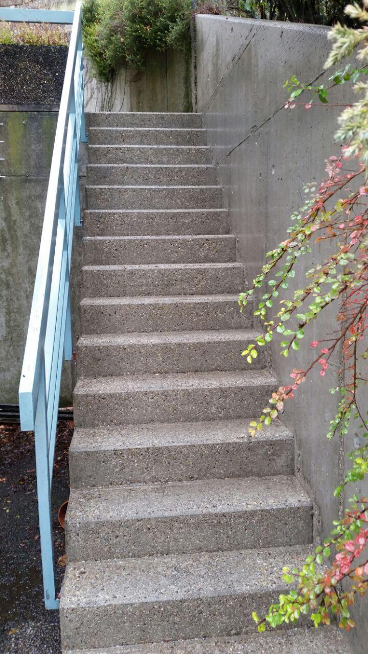 saro ohg vermooste betontreppe nach der reinigung