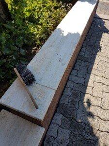 marmorabdekung aus travertin nach der kempa steinreinigung