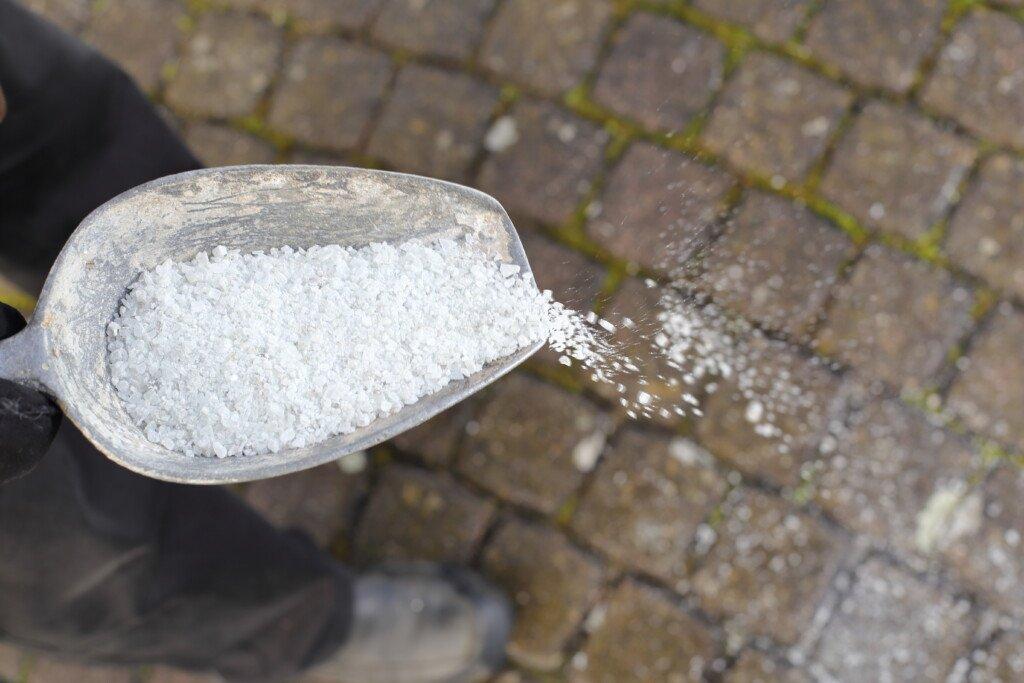 Salz zur Unkrautvernichtung