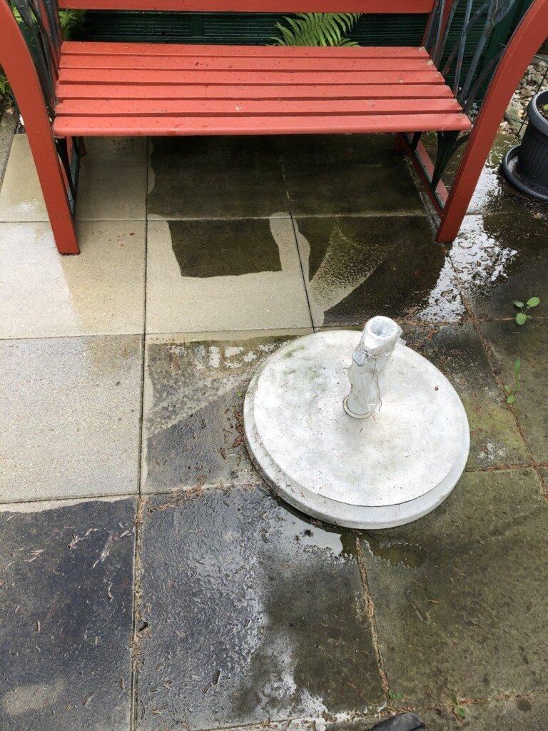 betonstein-wasserhochdruckreinigung von steinstar