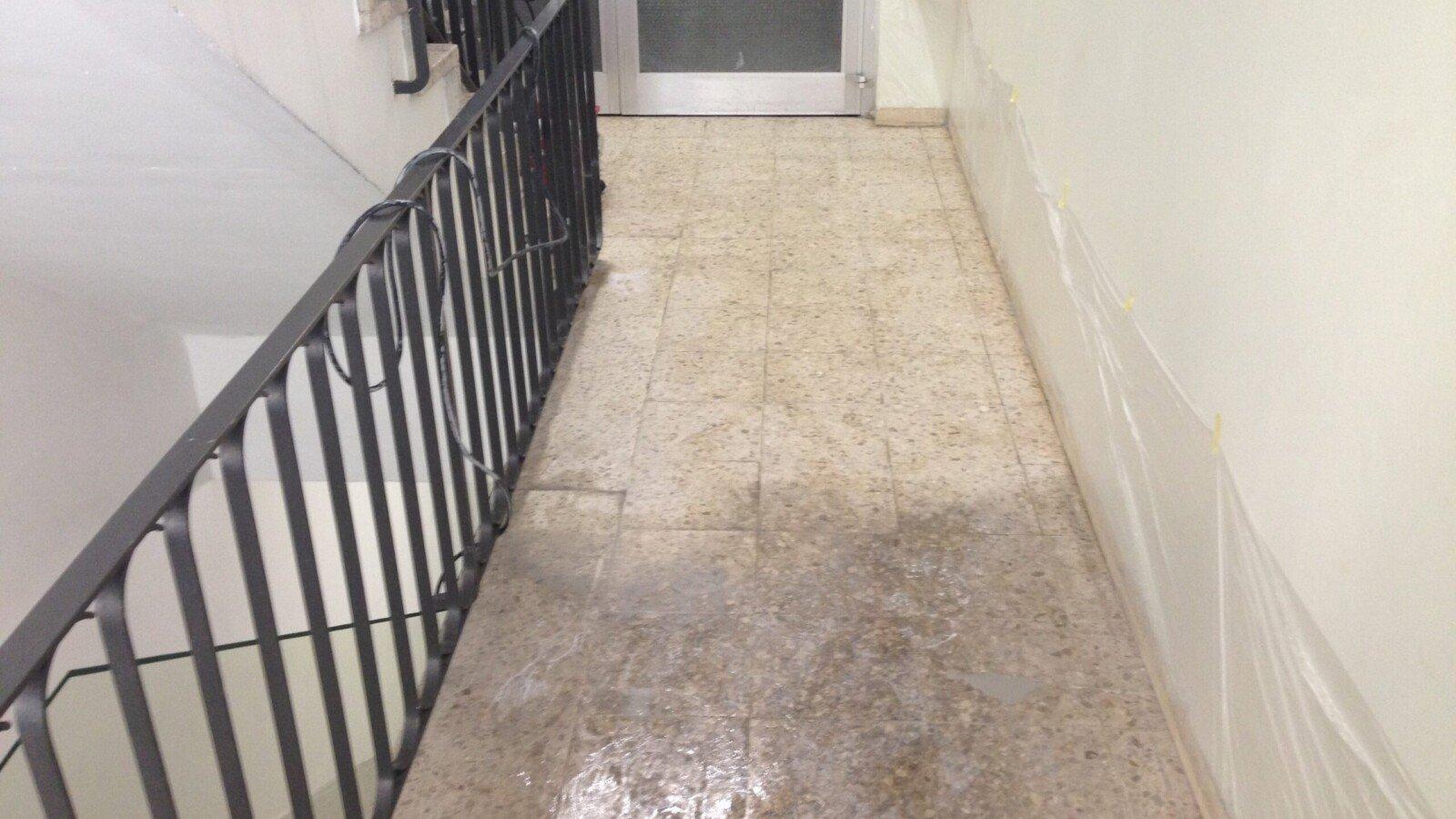 Terrazzoboden reinigen schleifen polieren kristallisieren