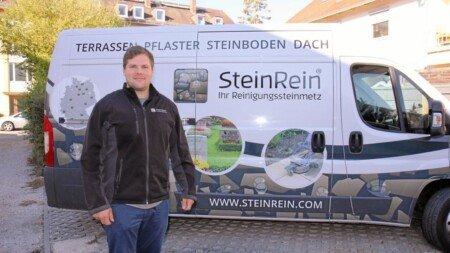 Bild zum Landshuter Wochenblatt Bericht - Polizei warnte vor ehrlichen Unternehmer / Steinreiniger SeinRein Tobias Lepschy