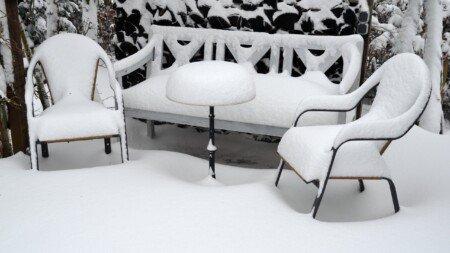 Terrasse winterfest machen