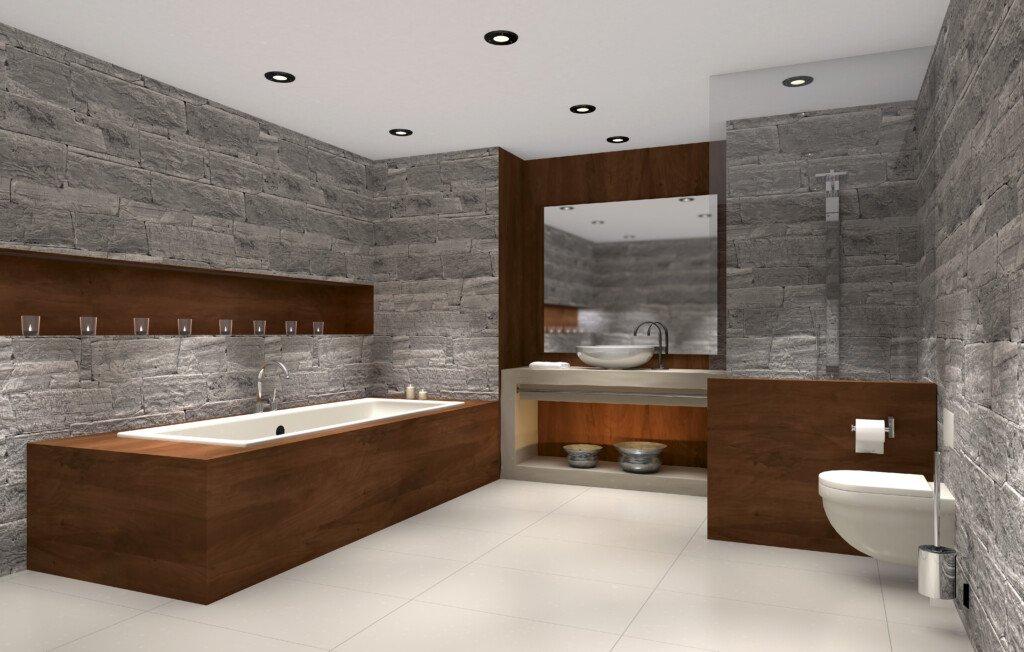 Naturstein Fliesen für Bad